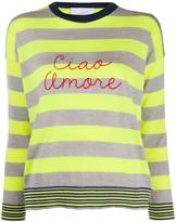 Giada Benincasa striped 'ciao amore' jumper