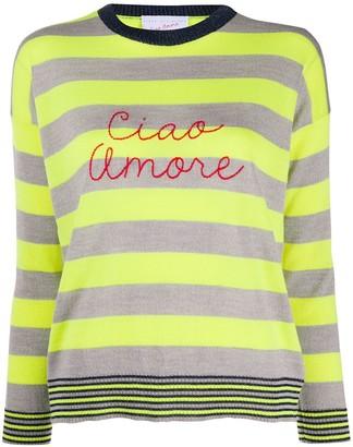 Striped 'ciao Amore' Jumper