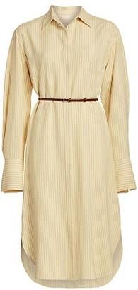 The Row Sonia Striped Shirt Dress