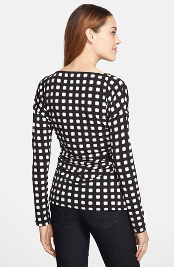 Vince Camuto 'Dabs' Ruched Boatneck Top