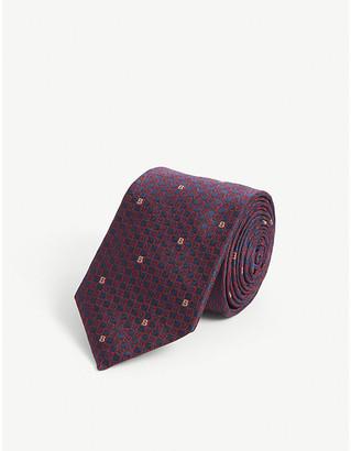 Burberry Logo-embossed silk tie