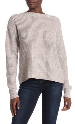 Bobeau Lace-Up Knit Sweater (Regular & Petite)