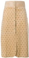 Lanvin Studded Suede Skirt - women - Suede/Polyester/Acetate - 42