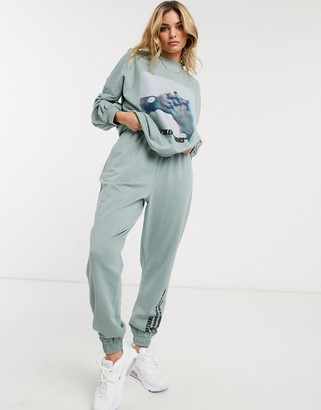 Public Desire relaxed joggers with emotions slogan co-ord