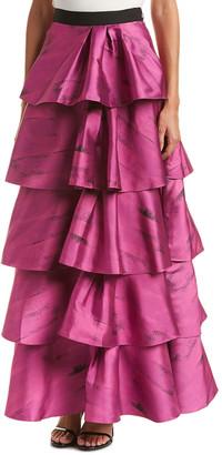 Sachin + Babi Ruffle Silk-Blend Skirt
