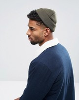 Asos Mini Fisherman Beanie In Khaki