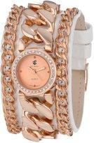 Rocawear RL0116RG1-471 25mm Diamonds Gold Steel Bracelet & Case Mineral Women's Watch