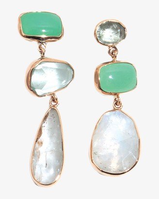 Melissa Joy Manning Bubble Opal Three Drop Earrings