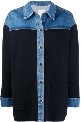 Sandro Shirt-Style Knitted Top