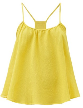 Loup Charmant Scoop-neck Organic-cotton Cami Top - Yellow