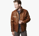 Johnston & Murphy Leather Four-Pocket Jacket