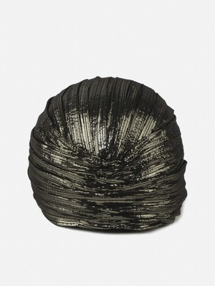 Saint Laurent Turban Style Hat With Metallic Texture