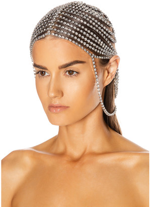 Area Crystal Headpiece in Silver | FWRD