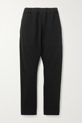 Bassike + Net Sustain Cropped Organic Cotton-jersey Track Pants - Black
