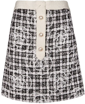 Chanel Black Tweed Tops