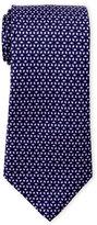 battistoni Purple Pattern Silk Tie