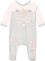 Little Marc Jacobs Grey and Pink Cat Print Babygrow in Box