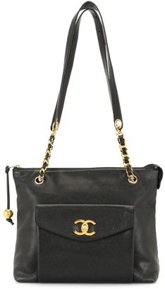 Chanel Pre Owned 1990s CC turn-lock tote bag