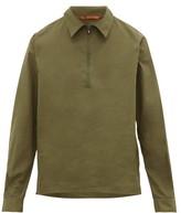 Barena Venezia - Bagio Zipped Cotton Poplin Shirt - Mens - Khaki