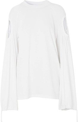 Burberry Oversized Cut-Out Top