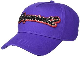 DSQUARED2 Script Baseball Cap (Viola) Caps