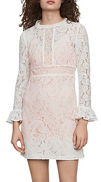 Maje Riline Guipure-Lace Mini Dress