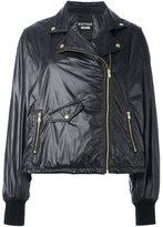 Moschino biker-style puffer jacket
