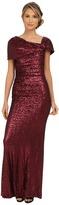 Badgley Mischka Sequin Off the Shoulder Gown