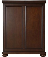 Three Posts Hedon Bar Cabinet with Wine Storage Color: Vintage Mahogany
