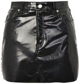 Topshop Moto vinyl mini skirt