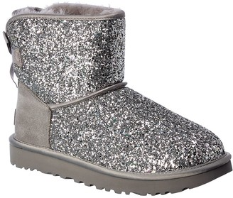 UGG Classic Mini Bow Cosmos Suede & Glitter Bootie