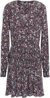 Veronica Beard Naomi Floral-print Stretch-silk Crepe De Chine Mini Dress