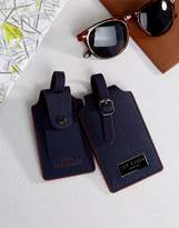 Ted Baker Luggage Tag x2 Blue Cadet