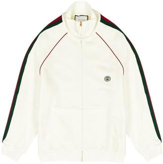 Gucci White cotton track jacket