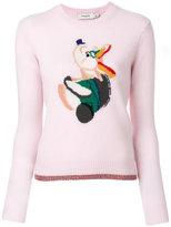 Coach intarsia knit jumper