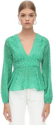 Rixo Printed Silk & Viscose Shirt