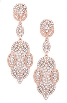 Nina Women's 'Glamorous' Crystal Drop Earrings