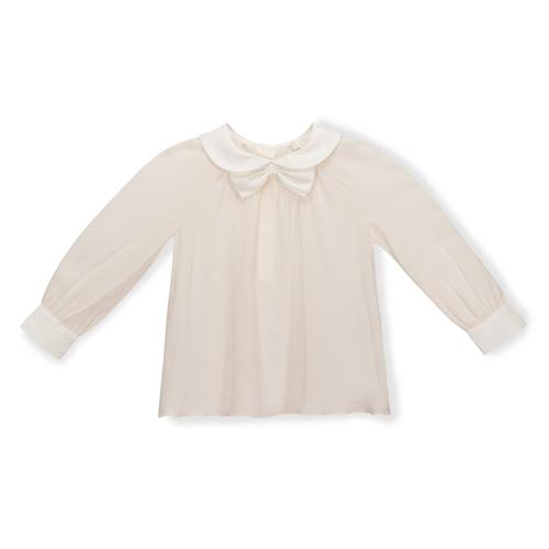 Chloe - Girl's Silk Crepe Overlay Blouse