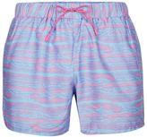 Topman Pink Waves Print Swim Shorts