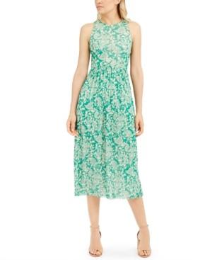Marella Printed Gathered-Waist Dress