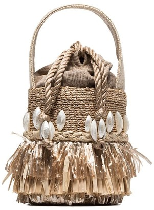 Aranaz Tenta Abaca raffia bucket bag