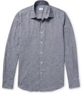 Incotex Kurt Slim-fit Checked Slub Cotton Shirt - Blue