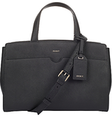 DKNY Bryant Park Saffiano Leather East / West Tote Bag, Black