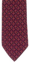 Hermes Geometric Belt Print Silk Tie