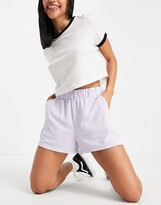 Thumbnail for your product : Monki Alma super soft pull on shorts in purple