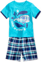 Nannette 2-Pc. Whale of a Time T-Shirt & Plaid Shorts Set, Baby Boys (0-24 months)