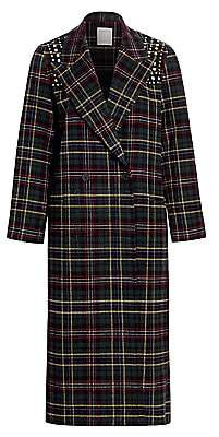 Sandro Women's Tiles Plaid Wool-Blend Coat