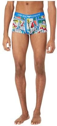 Emporio Armani Graphic Art Singles Trunks (Cartoon Print) Men's Underwear