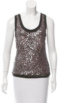 Magaschoni Sequined Knit Top