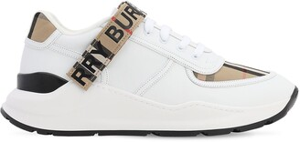Burberry Ronnie Check Leather Low-Top Sneakers
